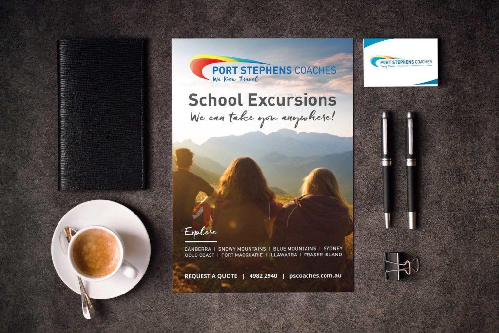 Port Stephens Coaches rebrand and design | Newcastle Creative Co